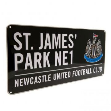Newcastle United St James Park Street Sign BLK